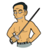 Takei Fence Bare Chested.png