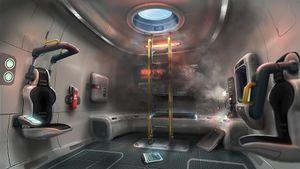 The Aurora escape pod
