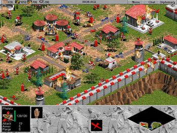 Massive battle between two armies