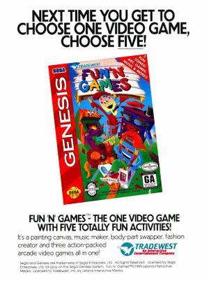 Fun n Games Sega Genesis print ad NickMag feb march 1994.jpg