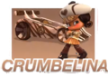 Crumbelina and her kart.png