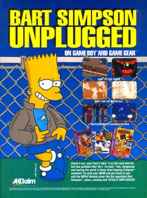 Bart Simpson Unplugged games world beanstalk radioactive print ad NickMag feb mar 1994.jpg