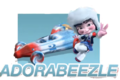 Adorabeezle and her kart.png