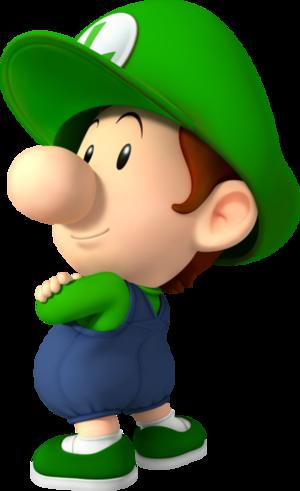 Baby Luigi Mario Super Sluggers.PNG