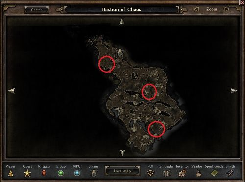 Unraveler Locations