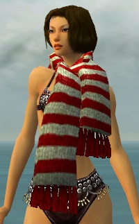 Stylish Red Striped Scarf gray front.jpg