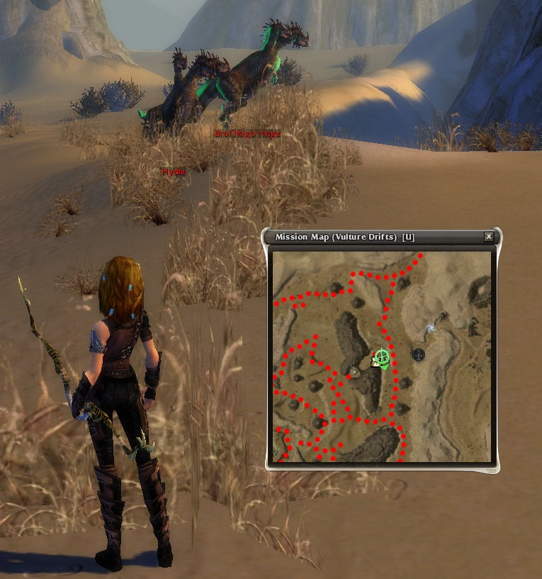 Probable location of the Hydra boss in Vulture Drifts after her patrol has started.