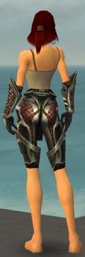 Warrior Elite Kurzick Armor F gray arms legs back.jpg
