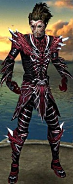 Necromancer Luxon Armor M gray chest feet front.jpg