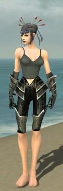 Necromancer Kurzick Armor F gray arms legs front.jpg