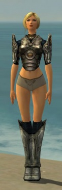 Warrior Sunspear Armor F gray chest feet front.jpg