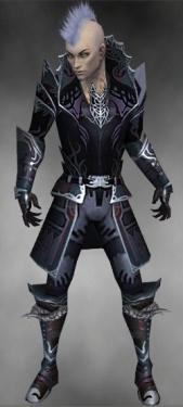Necromancer Deldrimor Armor M gray front.jpg