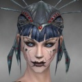 Necromancer Ancient Armor Female Headgear black front.jpg