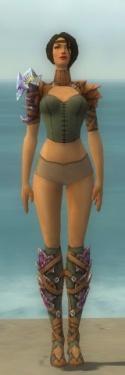 Ranger Drakescale Armor F gray chest feet front.jpg