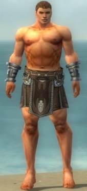 Warrior Gladiator Armor M gray arms legs front.jpg