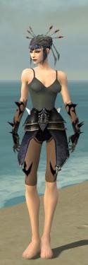 Necromancer Obsidian Armor F gray arms legs front.jpg