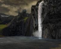 The waterfall at Tei Lake
