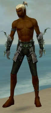 Assassin Elite Luxon Armor M gray arms legs front.jpg