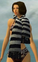 Stylish White Striped Scarf gray front.jpg