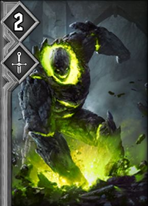 Gwent-Card-Game neutral Niederer gruener Golem.jpg
