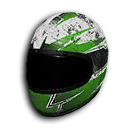 Green And White Racing Helmet.png