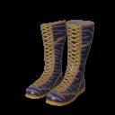 Purple Zebra Wrestling Boots.png