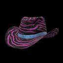 Pink Zebra Cowboy Hat.png