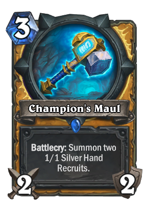 Champion Hearthstone