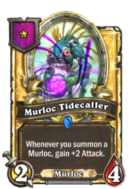 Murloc Tidecaller (Battlegrounds, golden).png