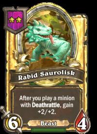 Rabid Saurolisk (Battlegrounds, golden).png