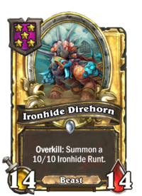 Ironhide Direhorn (Battlegrounds, golden).png