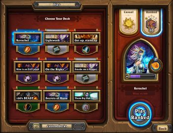 Hearthstone casual matchmaking