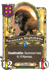 Savannah Highmane (Battlegrounds, golden).png