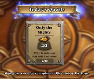 Quest - Hearthstone Wiki