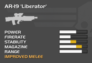 Fully upgraded AR-19 Liberator