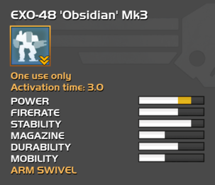 Fully upgraded EXO-48 Obsidian