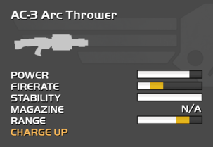 Fully upgraded AC-3 Arc Thrower