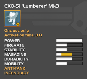 Fully upgraded EXO-51 Lumberer