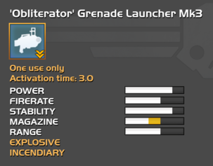 Fully upgraded Obliterator