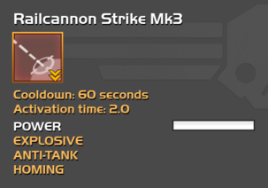 Fully upgraded Railcannon Strike