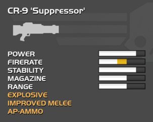 Fully upgraded CR-9 Suppressor