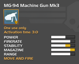 Fully upgraded MG-94 Machine Gun