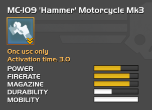 Fully upgraded MC-109 Hammer