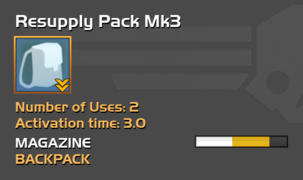 Fully upgraded Resupply Pack