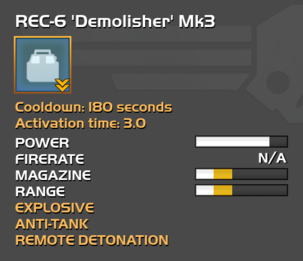 Fully upgraded REC-6 Demolisher