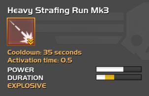 Fully upgraded to Heavy Strafing Run Mk3