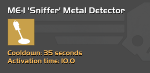 ME-1 'Sniffer' Metal Detector