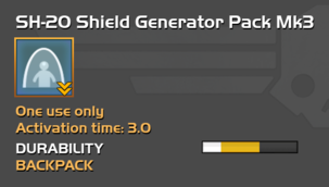 Fully upgraded SH-20 Shield Generator Pack