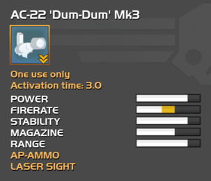 Fully upgraded AC-22 Dum-Dum