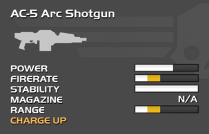 Fully upgraded AC-5 Arc Shotgun